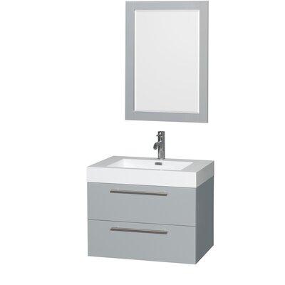 Amare 30 Single Bathroom Vanity Set with Mirror