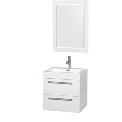 Amare 23 Single Bathroom Vanity Set with Mirror