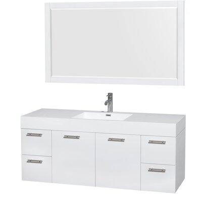 Amare 60 Single Bathroom Vanity Set with Mirror