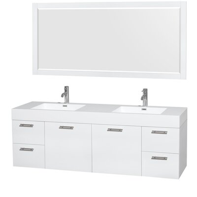 Amare 72 Double Bathroom Vanity Set with Mirror
