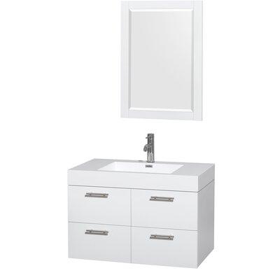 Amare 36 Single Bathroom Vanity Set with Mirror