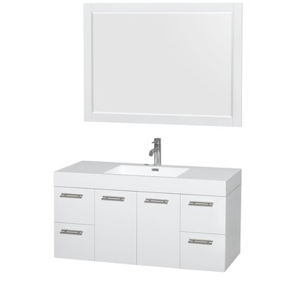 Amare 48 Single Bathroom Vanity Set with Mirror