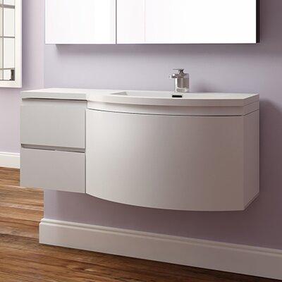 Waldwick 48 Single Wall Mount Modern Bathroom Vanity Set