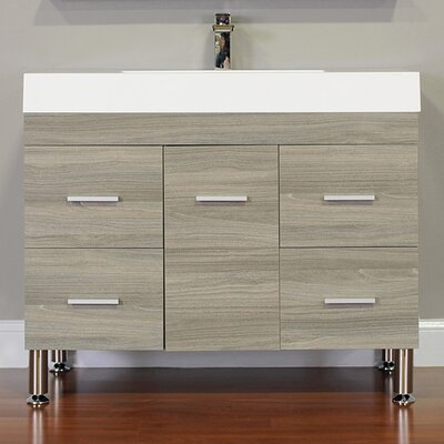 Waldwick 39 Single Modern Bathroom Vanity Set Base Finish: Gray