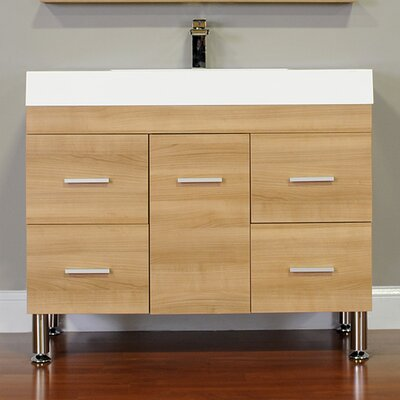 Ripley 39 Single Modern Bathroom Vanity Set Base Finish: Light Oak