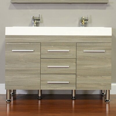 Waldwick 48 Double Modern Bathroom Vanity Set Base Finish: Gray