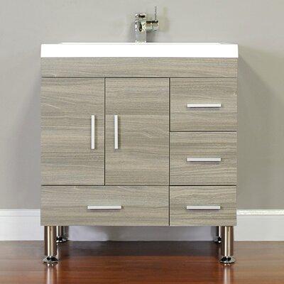 Waldwick 30 Single Modern Bathroom Vanity Set Base Finish: Gray