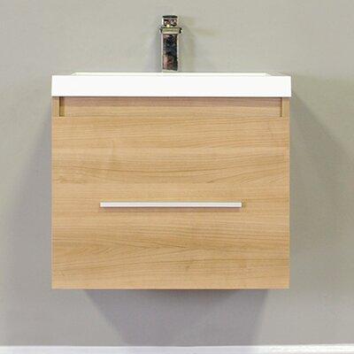Waldwick 24 Single Wall Mount Modern Bathroom Vanity Set Base Finish: Light Oak