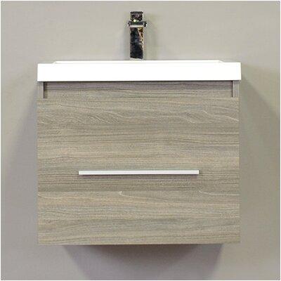 Waldwick 24 Single Wall Mount Modern Bathroom Vanity Set Base Finish: Gray