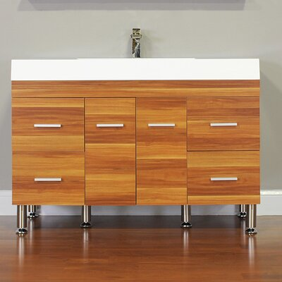 Waldwick 47 Single Modern Bathroom Vanity Set Base Finish: Cherry