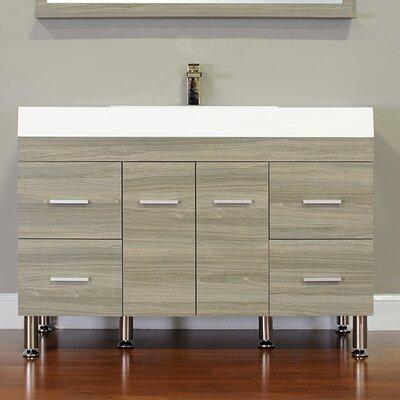 Waldwick 47 Single Modern Bathroom Vanity Set Base Finish: Gray