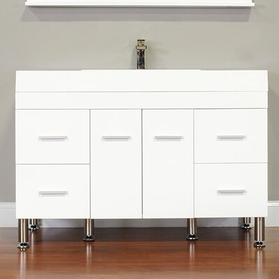 Waldwick 47 Single Modern Bathroom Vanity Set Base Finish: White
