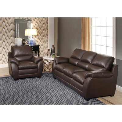 Bridgeyate Leather Sofa and Armchair Set