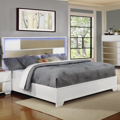 Dawna Panel Bed Size: King, Finish: White