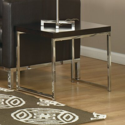 Mapleton End Table Finish: Chrome / Espresso