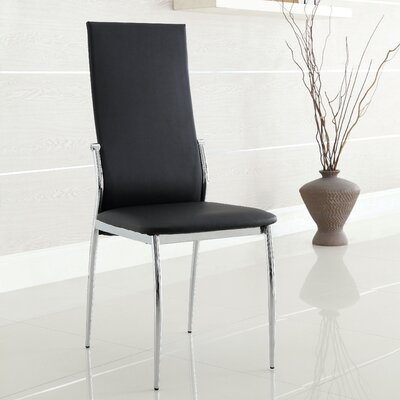 Jaxson Side Chair Finish: Black