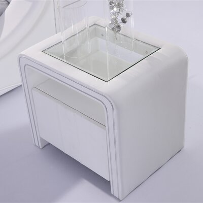 Centaurus Nightstand Color: White
