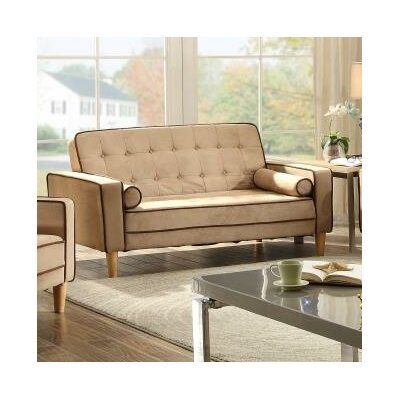 Navi Twill Loveseat Upholstery: Saddle