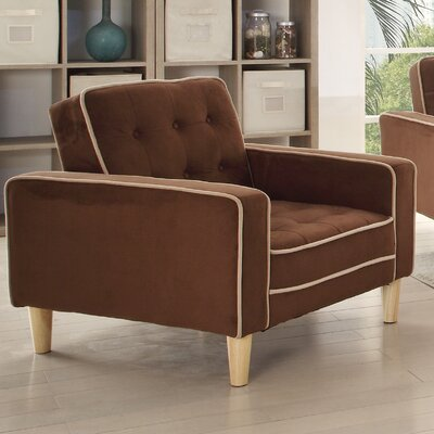 Navi Twill Loveseat Upholstery: Chocolate