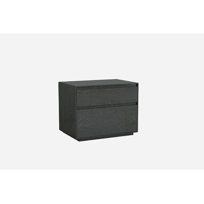 Barcroft 2 Drawer Nightstand Color: Gray