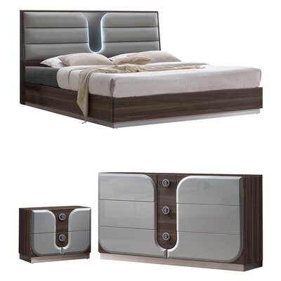Anshul Modern Wood Platform Configurable Bedroom Set