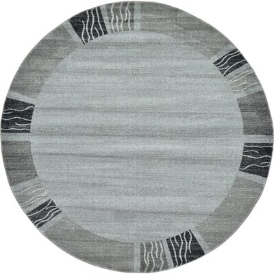 Christi Gray Solid Area Rug Rug Size: Round 8