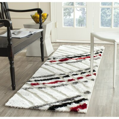 Anna Beige/Multi Stripe Rug Rug Size: Runner 23 x 7