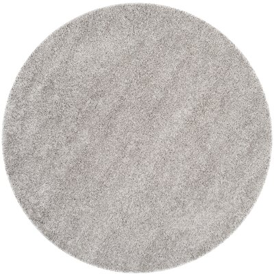 Mccall Silver Shag Area Rug Rug Size: Round 67