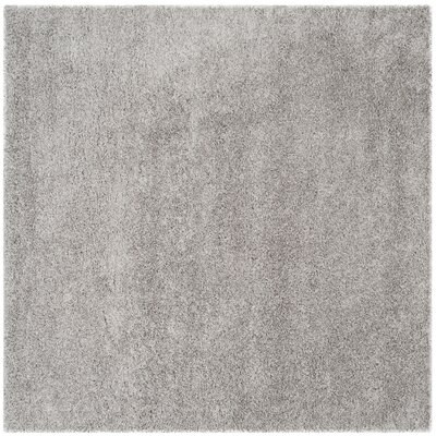 Mccall Silver Shag Area Rug Rug Size: Square 67