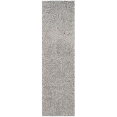 Mccall Silver Shag Area Rug Rug Size: Runner 23 x 8