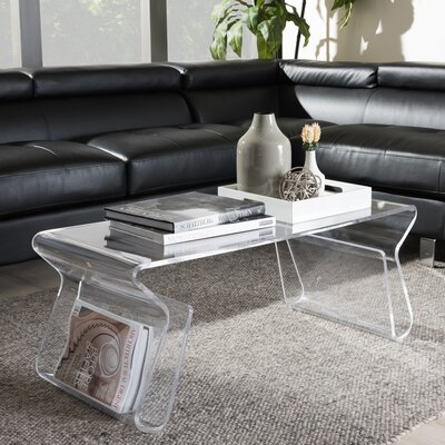 Miranda Coffee Table Color: Clear