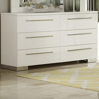 Brendan 6 Drawer Double Dresser with Mirror