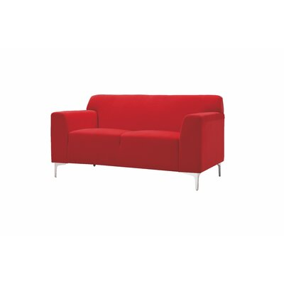 Trystan Loveseat Upholstery: Red