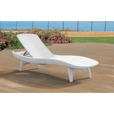 Wade Logan Clarita Chaise Lounge Color: White