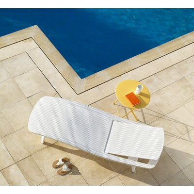 Clarita Chaise Lounge Color: White