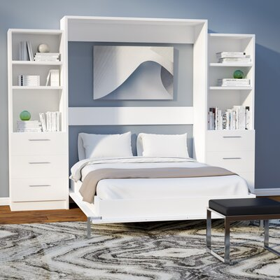 Lower Weston Murphy Wall Bed Size: Full, Finish: White