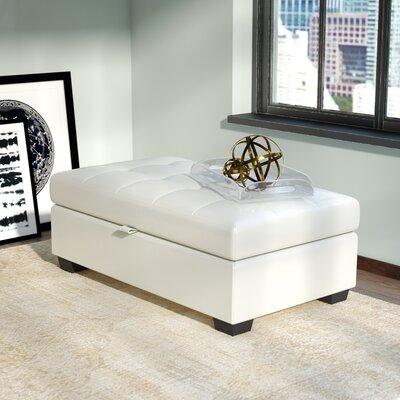 Olive Storage Ottoman Upholstery: White