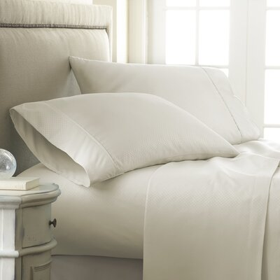 Aspen Sheet Set Size: King, Color: Cream