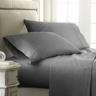 Aspen Sheet Set Size: King, Color: Grey