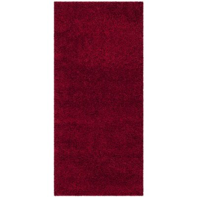 Rowen Handmade Red Area Rug Rug Size: Runner 23 x 5