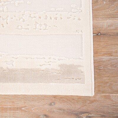 Elvis Ivory/Beige Area Rug Rug Size: 2' x 3'