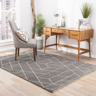 Lyme Charcoal Gray/Paloma Area Rug Rug Size: Rectangle 53 x 76