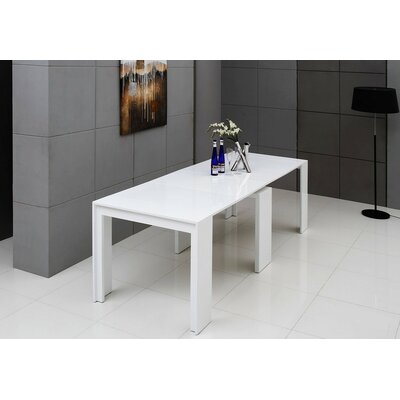 Gerardo Ultra-Compact Extendable Dining Table Finish: White