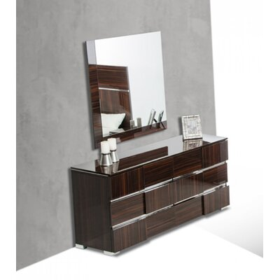 Camron 6 Drawer Dresser Color: Ebony