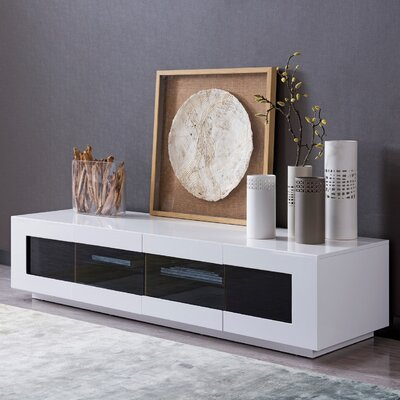 Branson 90 TV Stand Color: White