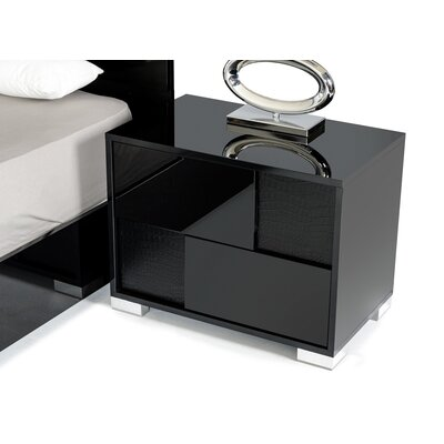 Keene 2 Drawer Nightstand Door Configuration: Right