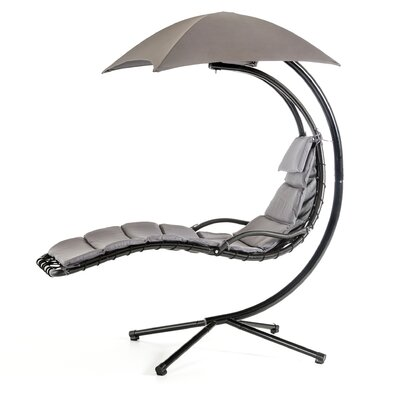 Hornback Dream Hanging Chaise Lounger Cushion Color: Gray