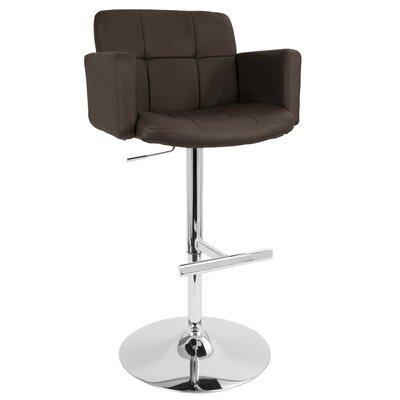 Limpley Stoke Swivel Bar Stool Upholstery: Brown