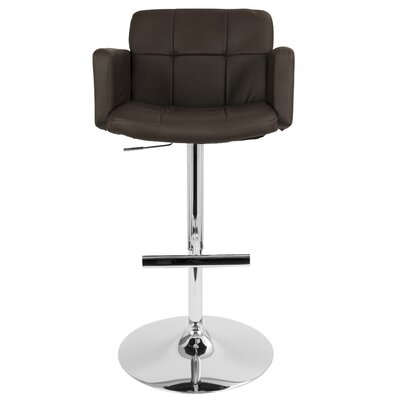 Aurora Swivel Bar Stool Upholstery: Brown