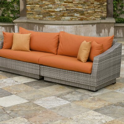 Alfonso 2 Piece Sofa with Cushions Fabric: Tikka Orange